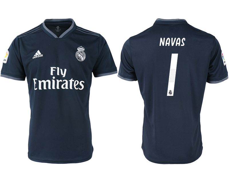 Men 2018-2019 club Real Madrid away aaa version 1 black soccer jersey