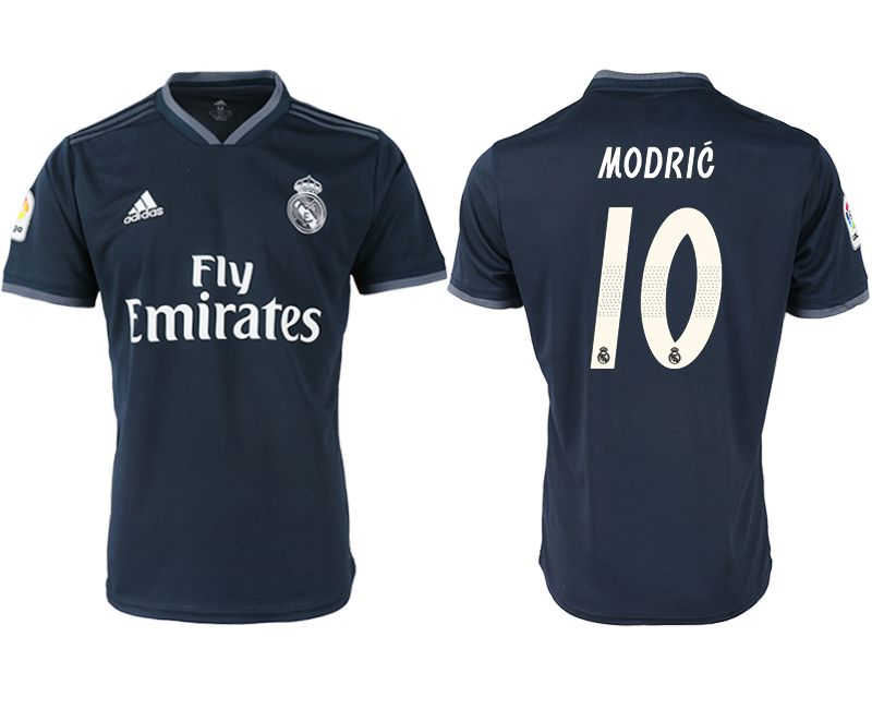 Men 2018-2019 club Real Madrid away aaa version 10 black soccer jersey