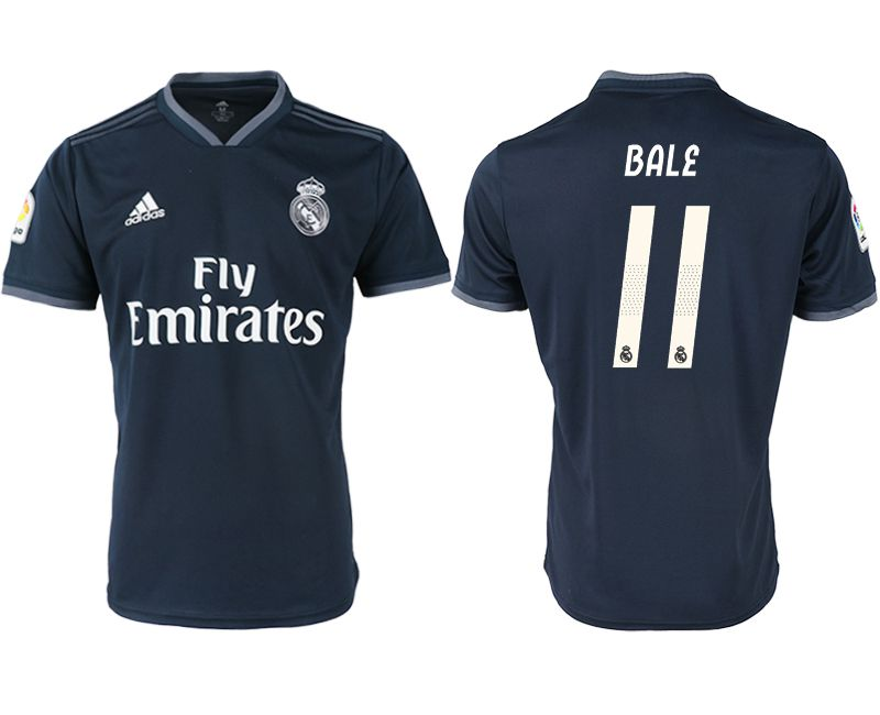 Men 2018-2019 club Real Madrid away aaa version 11 black soccer jersey