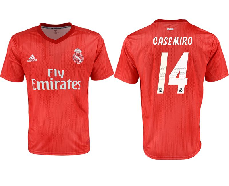 Men 2018-2019 club Real Madrid away aaa version 14 red soccer jersey