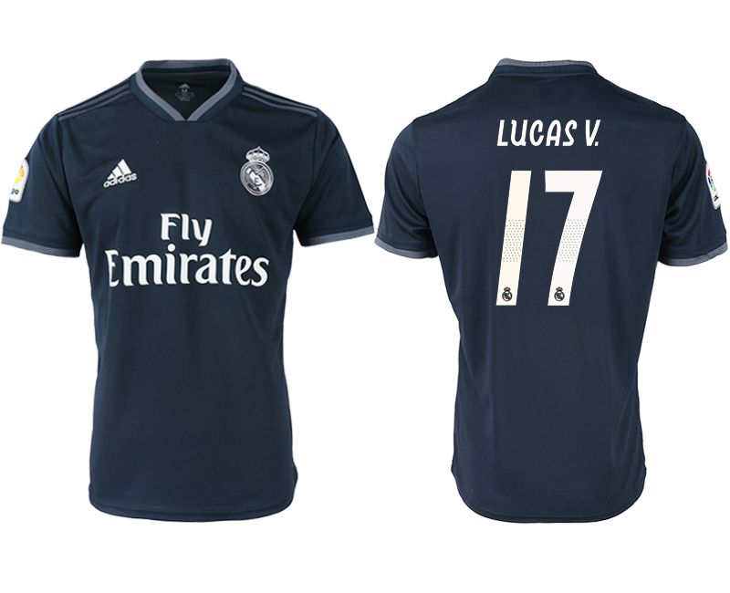 Men 2018-2019 club Real Madrid away aaa version 17 black soccer jersey