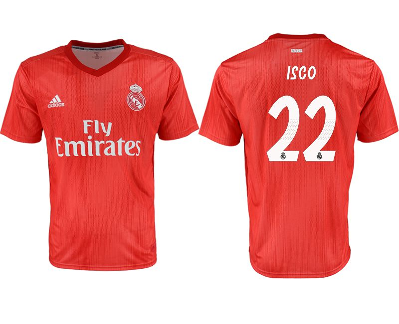 Men 2018-2019 club Real Madrid away aaa version 22 red soccer jersey