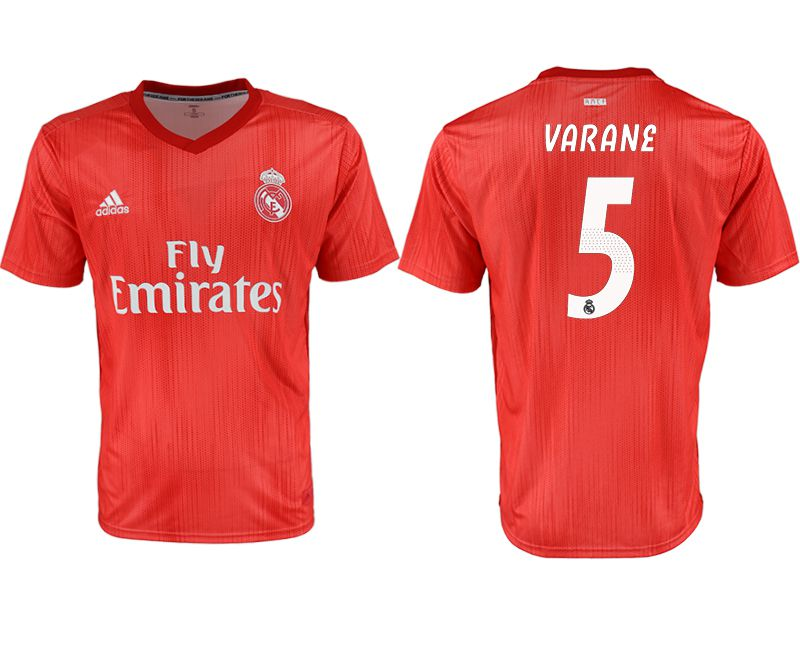 Men 2018-2019 club Real Madrid away aaa version 5 red soccer jersey