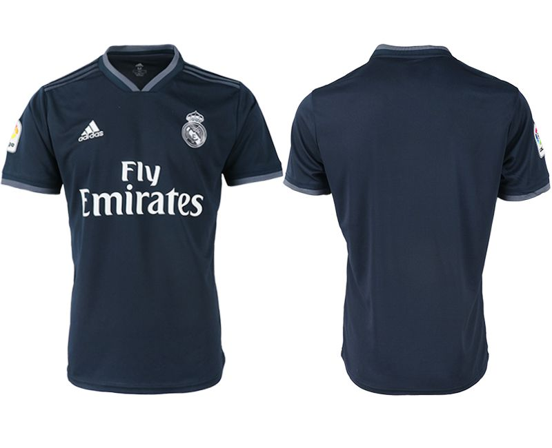 Men 2018-2019 club Real Madrid away aaa version black soccer jersey