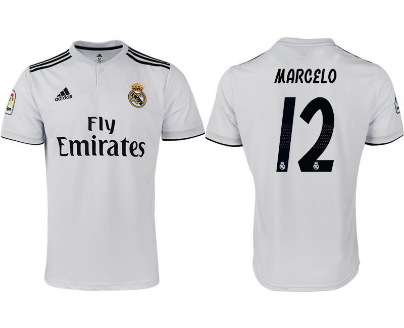 Men 2018-2019 club Real Madrid home aaa version 12 white soccer jersey