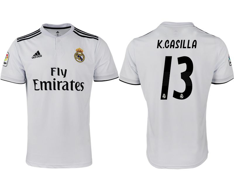 Men 2018-2019 club Real Madrid home aaa version 13 white soccer jersey