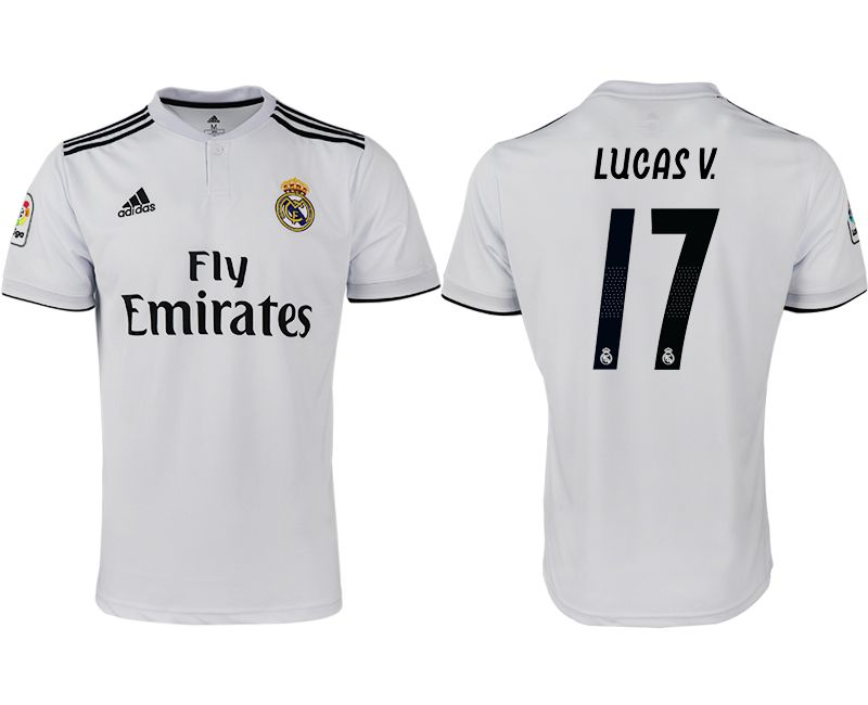 Men 2018-2019 club Real Madrid home aaa version 17 white soccer jersey