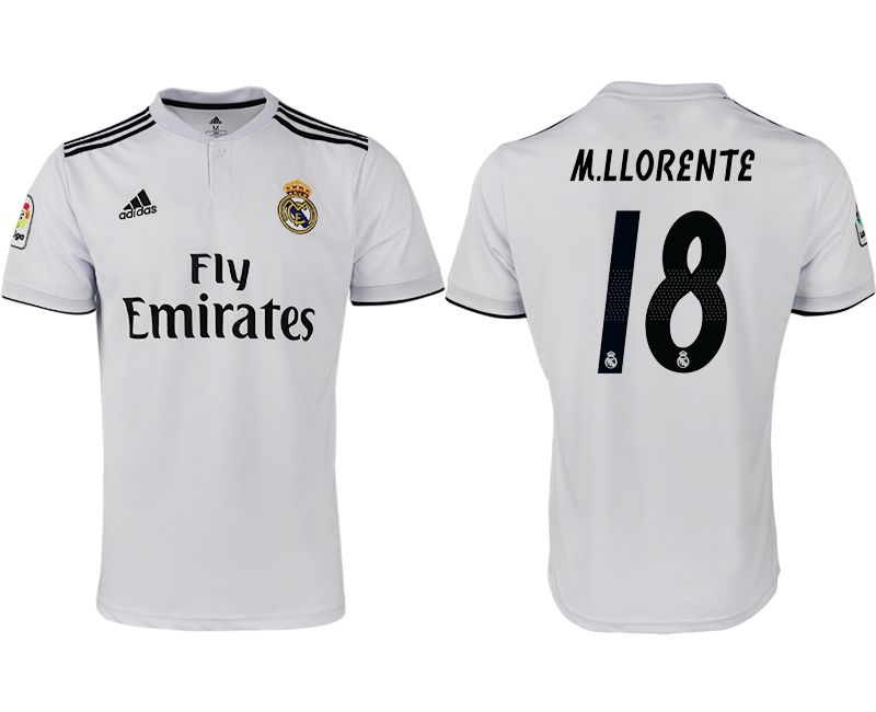 Men 2018-2019 club Real Madrid home aaa version 18 white soccer jersey