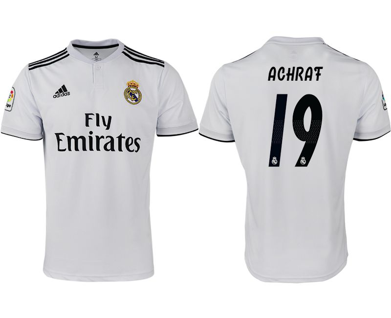 Men 2018-2019 club Real Madrid home aaa version 19 white soccer jersey