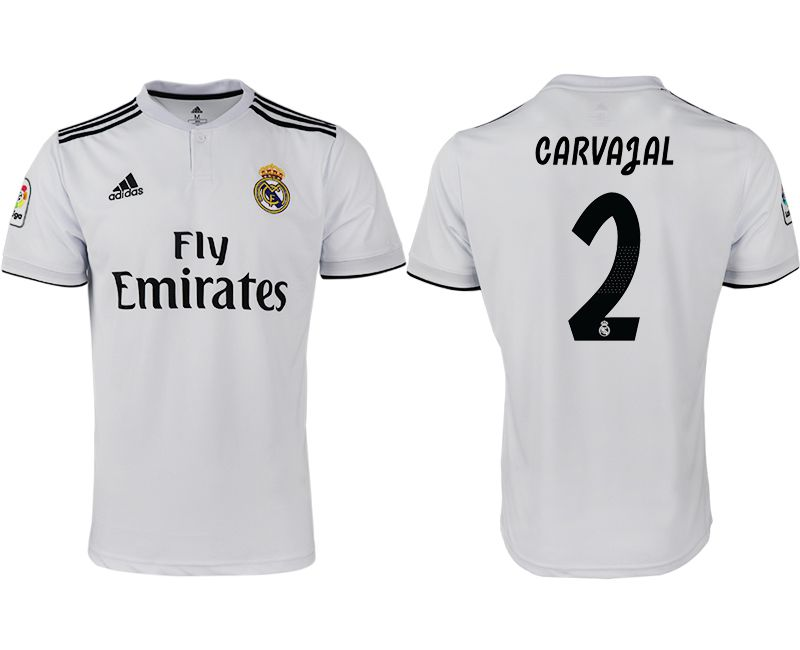 Men 2018-2019 club Real Madrid home aaa version 2 white soccer jersey