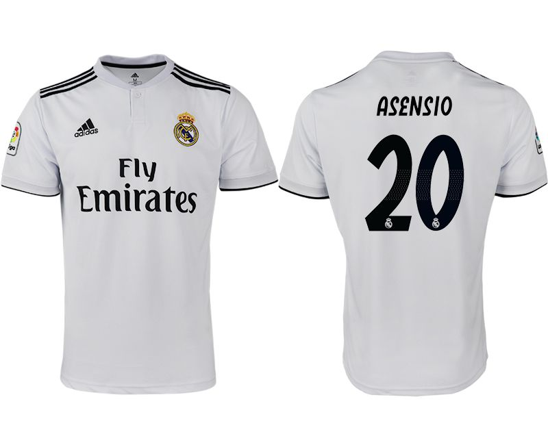 Men 2018-2019 club Real Madrid home aaa version 20 white soccer jersey