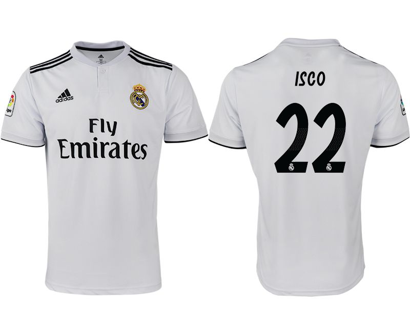 Men 2018-2019 club Real Madrid home aaa version 22 white soccer jersey