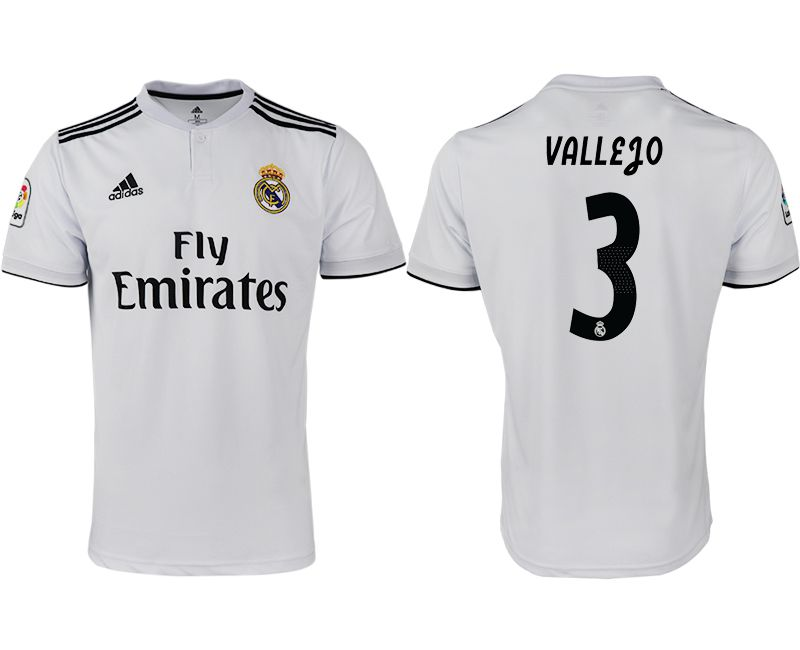 Men 2018-2019 club Real Madrid home aaa version 3 white soccer jersey
