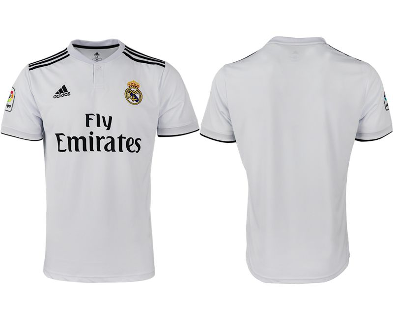 Men 2018-2019 club Real Madrid home aaa version white soccer jersey