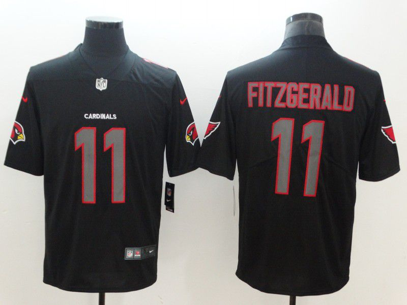 Men Arizona Cardinals 11 Fitzgerald Nike Fashion Impact Black Color Rush Limited NFL Jerseys