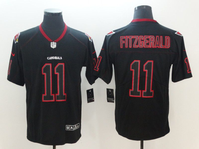 Men Arizona Cardinals 11 Fitzgerald Nike Lights Out Black Color Rush Limited NFL Jerseys