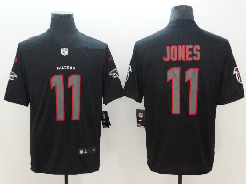 Men Atlanta Falcons 11 Jones Nike Fashion Impact Black Color Rush Limited NFL Jerseys