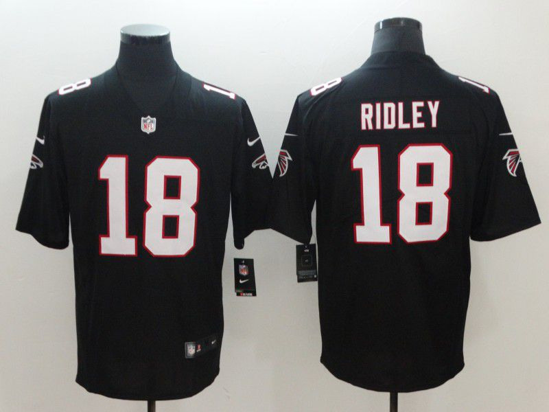 Men Atlanta Falcons 18 Ridley Black Nike Vapor Untouchable Limited NFL Jerseys