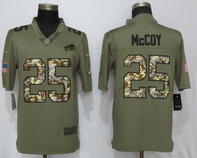 Men Buffalo Bills 25 McCoy Olive Camo Carson 2017 Salute to Service Limited Nike NFL Jerseys