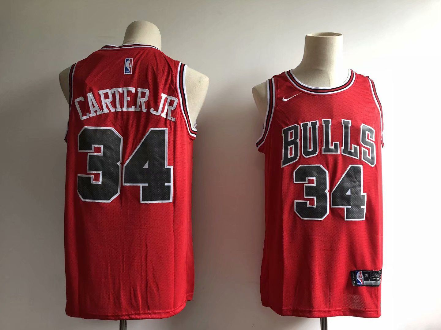 Men Chicago Bulls 34 Carter jr Red Game Nike NBA Jerseys