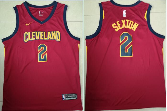 Men Cleveland Cavaliers 2 Sextdn Red Game Nike NBA Jerseys