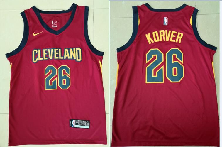 Men Cleveland Cavaliers 26 Korver Red Game Nike NBA Jerseys