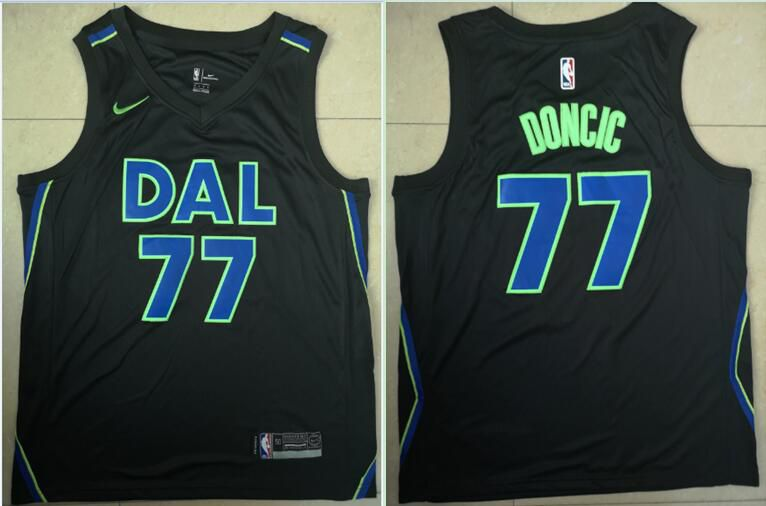 Men Dallas Mavericks 77 Doncic Black Game Nike NBA Jerseys