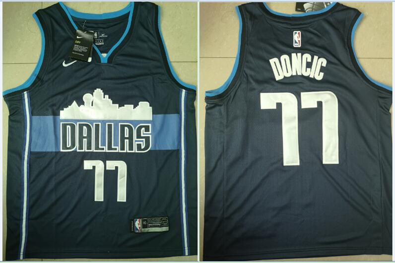 Men Dallas Mavericks 77 Doncic Blue Game Nike NBA Jerseys