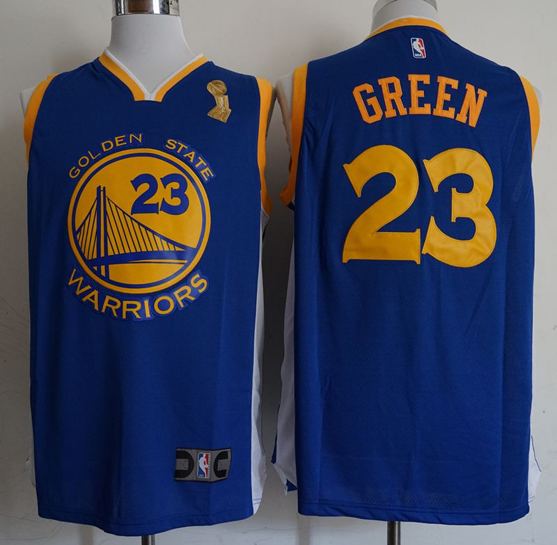 Men Golden State Warriors 23 Green Blue Champion Game Nike NBA Jerseys