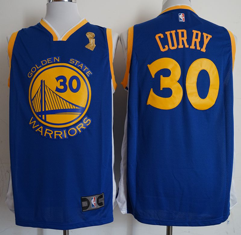 Men Golden State Warriors 30 Gurry Blue Champion Game Nike NBA Jerseys