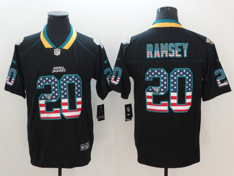Men Jacksonville Jaguars 20 Ramsey Nike USA Flag Fashion Black Color Rush Limited NFL Jerseys