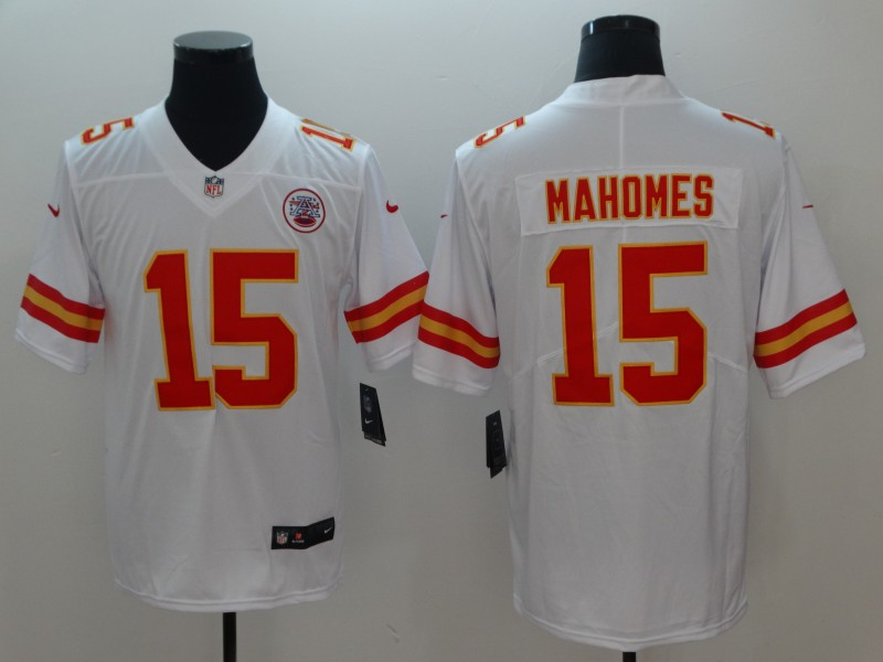 Men Kansas City Chiefs 15 Mahomes White Vapor Untouchable Player Nike Limited NFL Jerseys