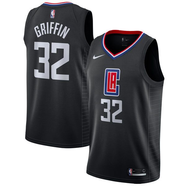 Men Los Angeles Clippers 32 Griffin Black Game Nike NBA Jerseys