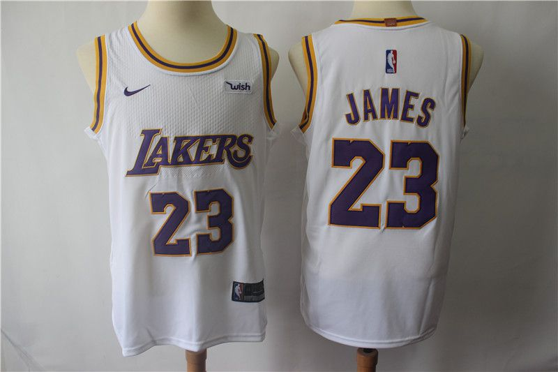 Men Los Angeles Lakers 23 James White Personal tailor Nike Game NBA Jerseys