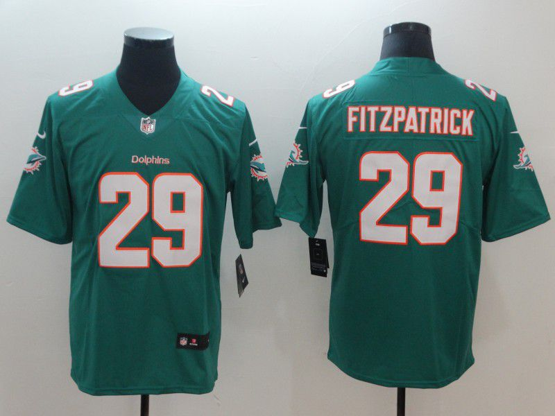 Men Miami Dolphins 29 Fitzpatrick Green Nike Vapor Untouchable Limited NFL Jerseys