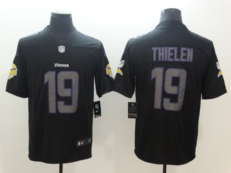 Men Minnesota Vikings 19 Thielen Nike Fashion Impact Black Color Rush Limited NFL Jerseys