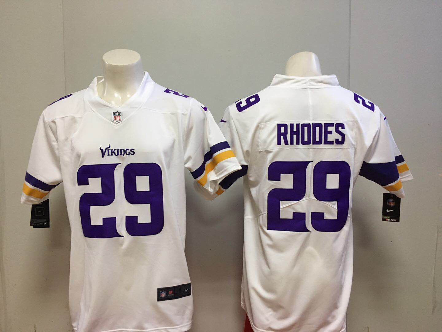 Men Minnesota Vikings 29 Rhodes White Nike Vapor Untouchable Limited NFL Jerseys