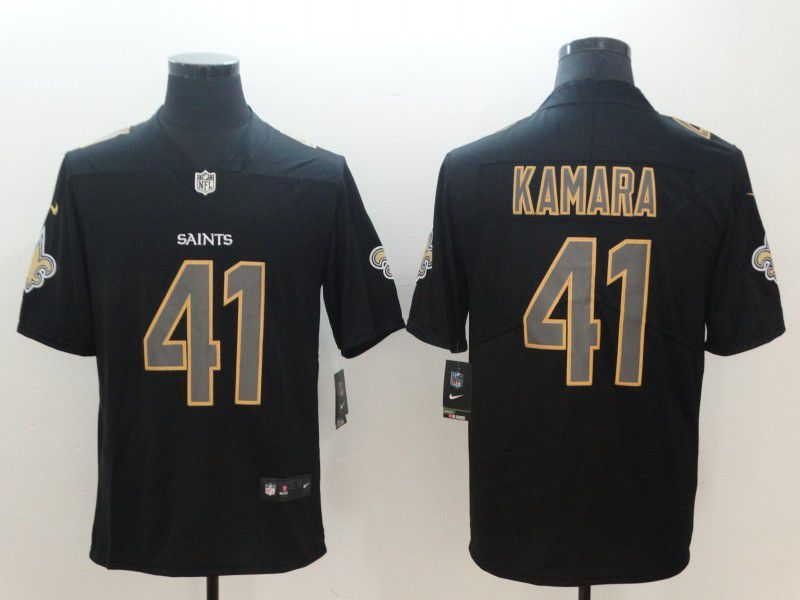 Men New Orleans Saints 41 Kamara Nike Fashion Impact Black Color Rush Limited NFL Jerseys