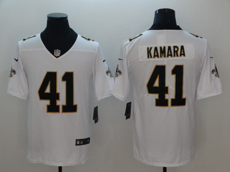 Men New Orleans Saints 41 Kamara White Nike Vapor Untouchable Limited NFL Jerseys