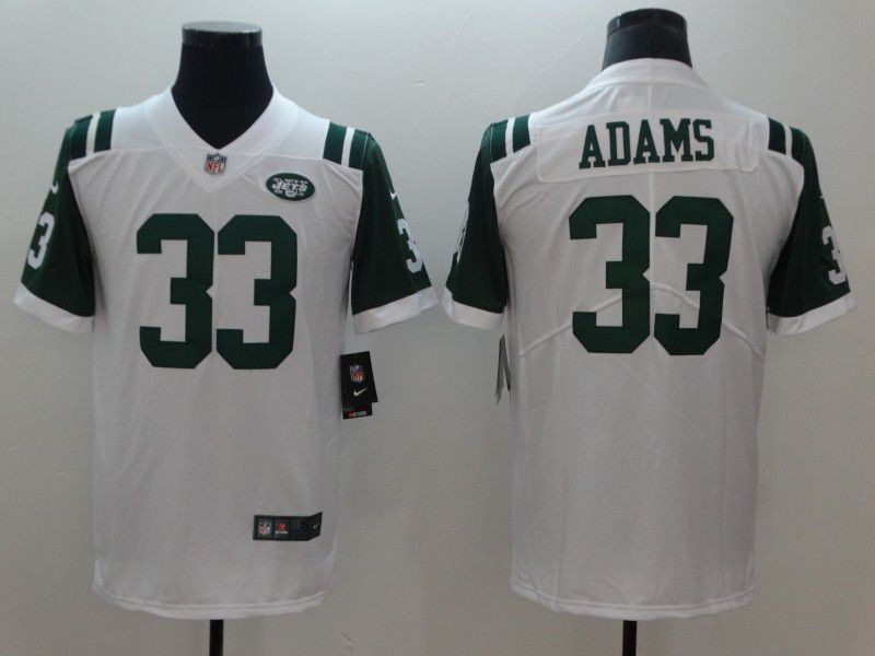 Men New York Jets 33 Adams White Nike Vapor Untouchable Limited NFL Jerseys