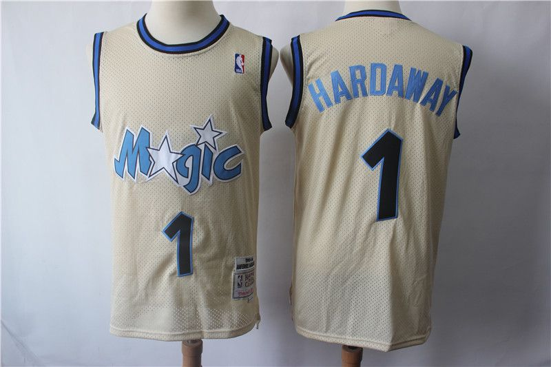 Men Orlando Magic 1 Hardaway Gream Retro Limited Edition NBA Jerseys