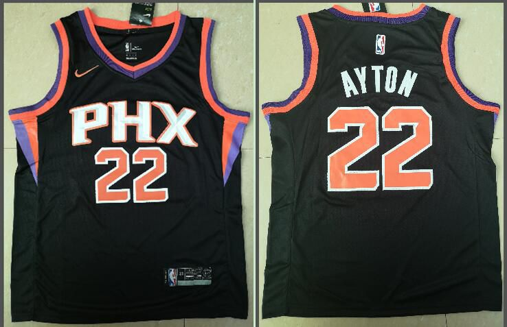 Men Phoenix Suns 22 Ayton Black Game Nike NBA Jerseys