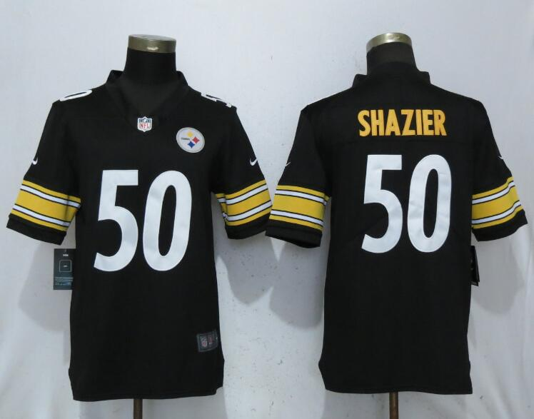 Men Pittsburgh Steelers 50 Shazier Black 2017 Vapor Untouchable Limited Player Nike NFL Jerseys