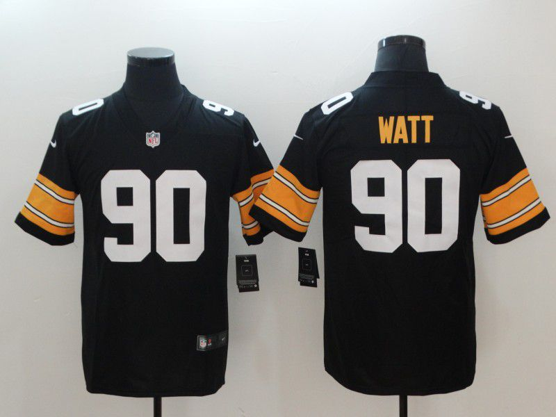 Men Pittsburgh Steelers 90 Watt Black Nike Vapor Untouchable Limited NFL Jerseys