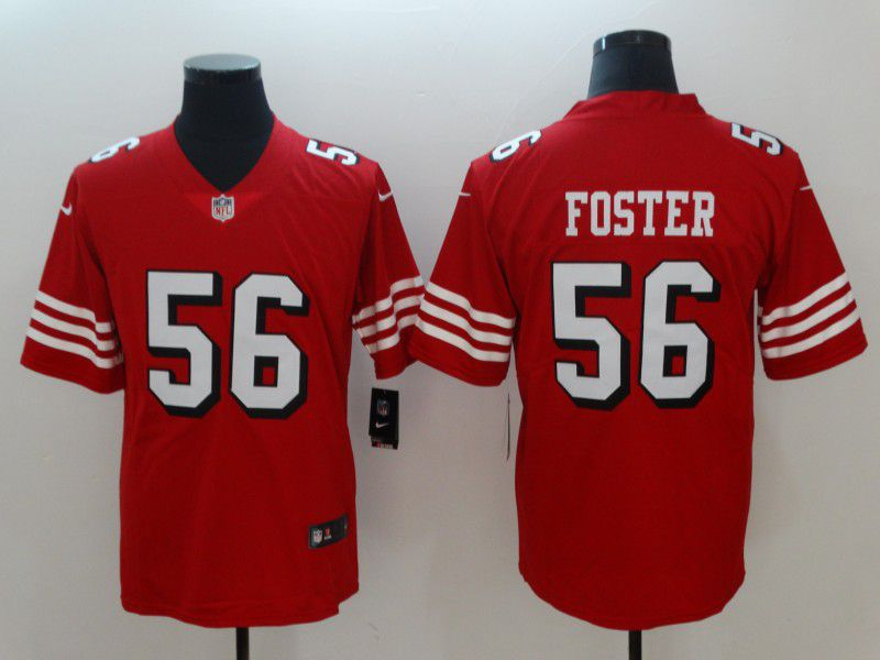 Men San Francisco 49ers 56 Foster Red Nike Vapor Untouchable Limited NFL Jerseys