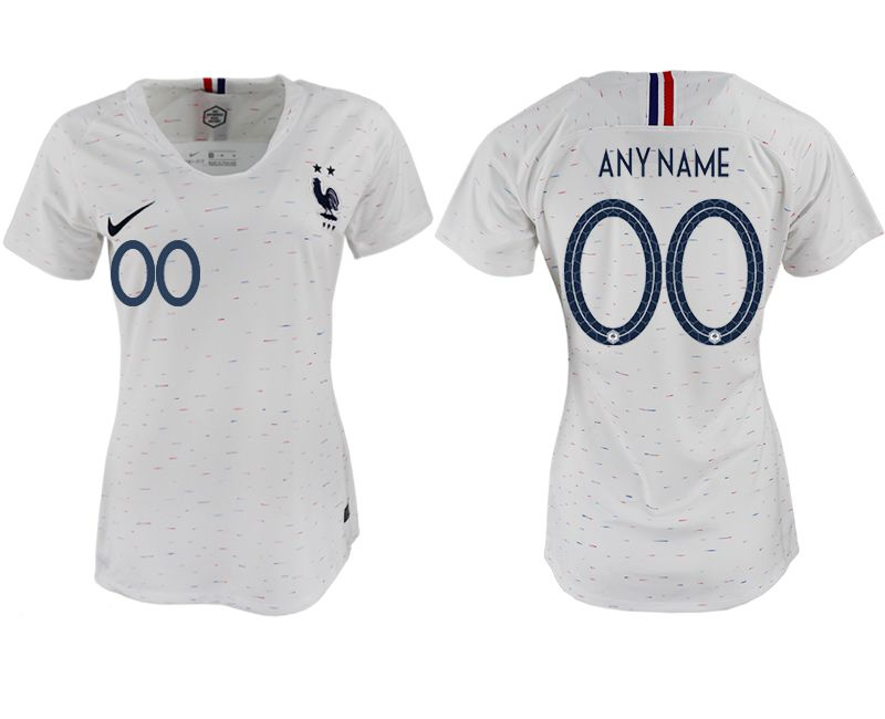 Women 2018 World Cup French away aaa version customized white soccer jerseys