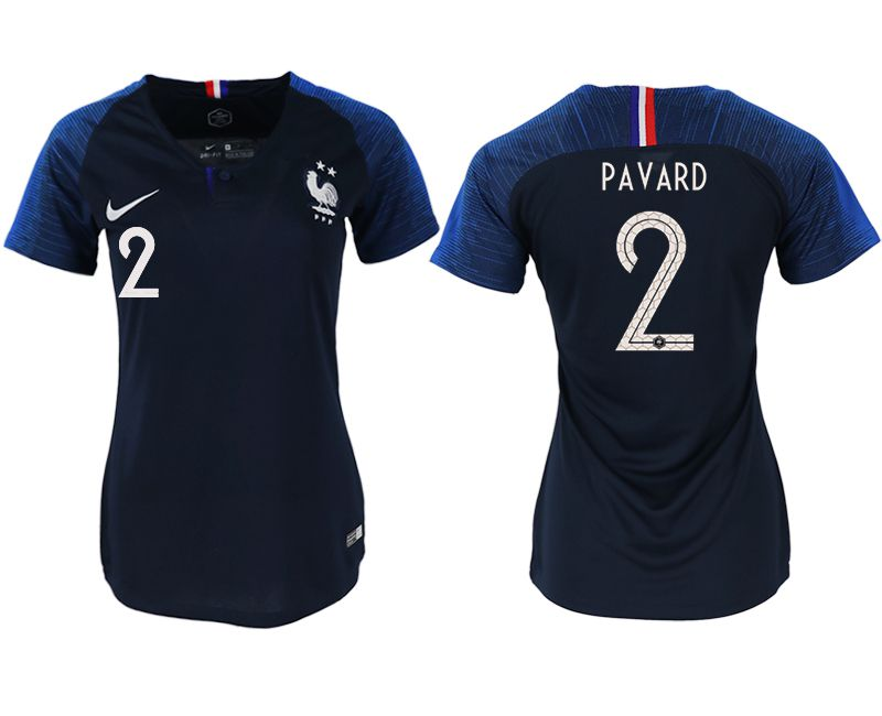 Women 2018 World Cup French home aaa version 2 blue soccer jerseys