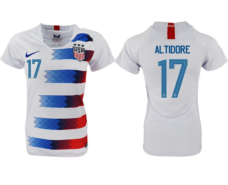 Women 2018-2019 National America home aaa 17 white soccer jersey