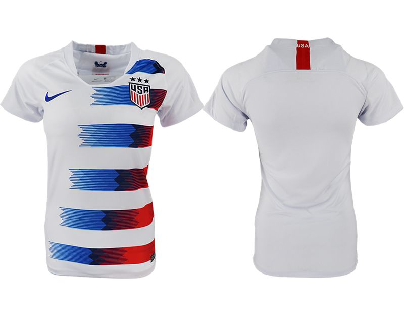 Women 2018-2019 National America home aaa blank white soccer jersey