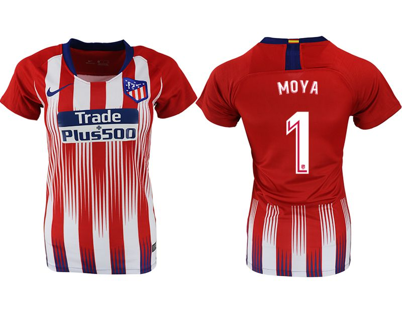 Women 2018-2019 club Atletico Madrid home aaa version 1 red soccer jersey